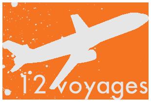 12 voyages en 12 mois
